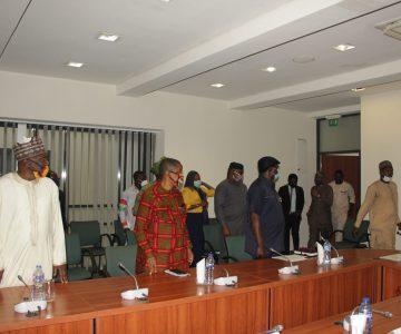 NLC  LEADERSHIP VISIT TO HOUSE OF REPS LEADERSHIP